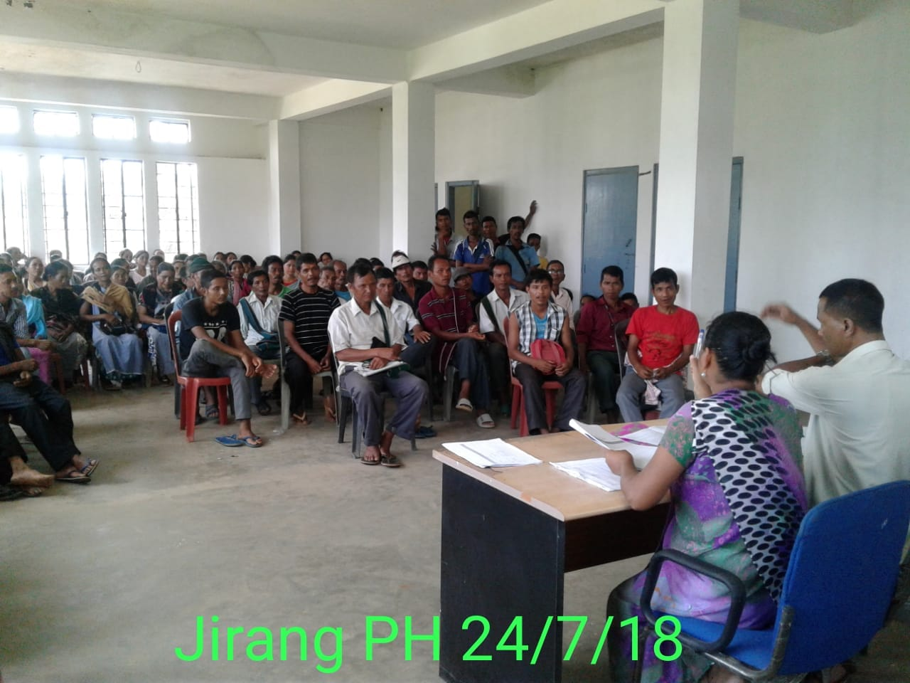 Public Hearing at Jirang C&RD Block (24th July 2018)